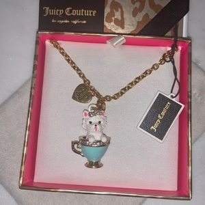 Juicy Couture Teacup Maltese Necklace NWT
